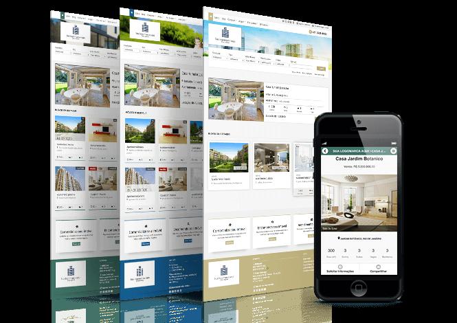 Modelos de site para imobiliárias