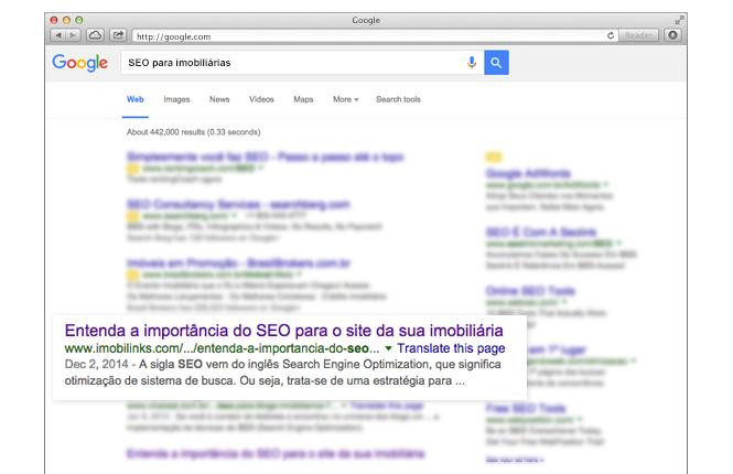 SEO - otimização para motores de busca