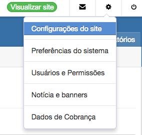 configuracoes site