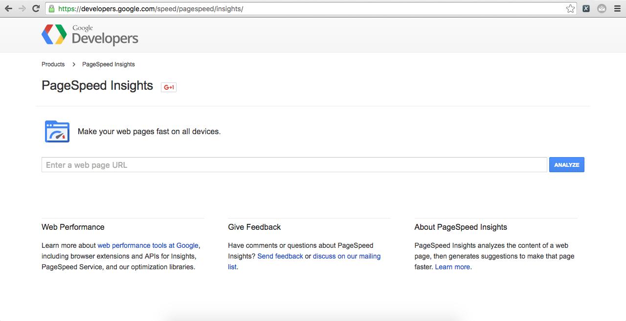 Google spee insight