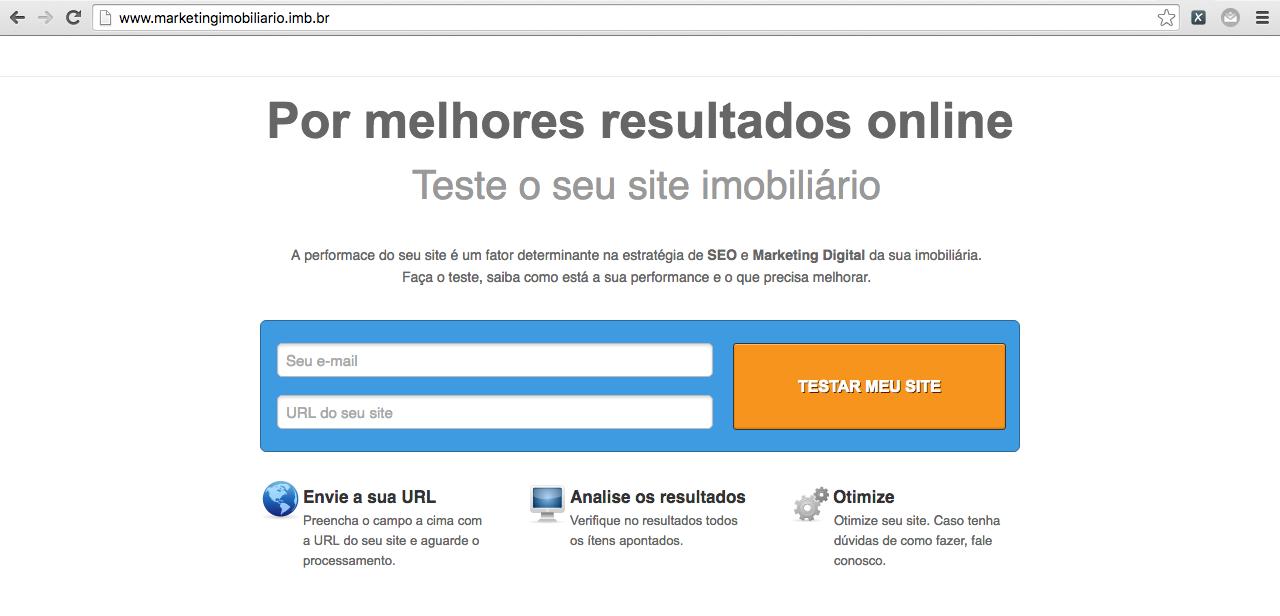 Marketing imobiliários performance site